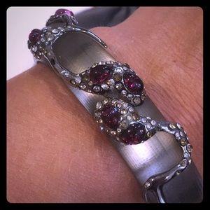 Alexis Bittar pink crystal encrusted bracelet
